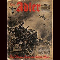 0553	 DER ADLER	 -No.	17	-1941	 vintage German Luftwaffe Magazine Air Force WW2 WWII