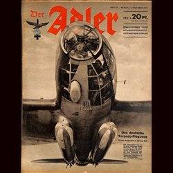 0554	 DER ADLER	 -No.	21	-1941	 vintage German Luftwaffe Magazine Air Force WW2 WWII