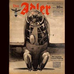 0554 DER ADLER -No.21-1941 vintage German Luftwaffe Magazine Air Force WW2 WWII
