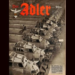 0557	 DER ADLER	 -No.	23	-1941	 vintage German Luftwaffe Magazine Air Force WW2 WWII