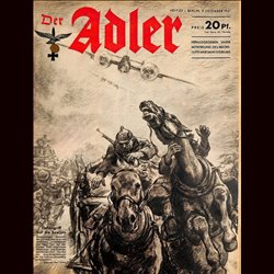 0563	 DER ADLER	 -No.	25	-1941	 vintage German Luftwaffe Magazine Air Force WW2 WWII