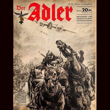 0563 DER ADLER -No.25-1941 vintage German Luftwaffe Magazine Air Force WW2 WWII