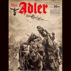 0564 DER ADLER -No.25-1941 vintage German Luftwaffe Magazine Air Force WW2 WWII