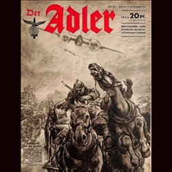 0565	 DER ADLER	 -No.	25	-1941	 vintage German Luftwaffe Magazine Air Force WW2 WWII