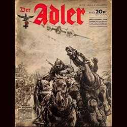 0566	 DER ADLER	 -No.	25	-1941	 vintage German Luftwaffe Magazine Air Force WW2 WWII