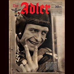 0567	 DER ADLER	 -No.	25	-1942	 vintage German Luftwaffe Magazine Air Force WW2 WWII