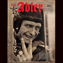 0567 DER ADLER -No.25-1942 vintage German Luftwaffe Magazine Air Force WW2 WWII