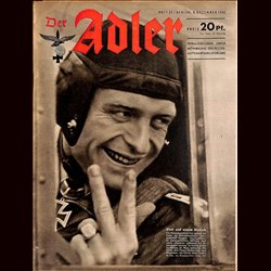 0568	 DER ADLER	 -No.	25	-1942	 vintage German Luftwaffe Magazine Air Force WW2 WWII