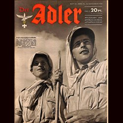 0569	 DER ADLER	 -No.	23	-1942	 vintage German Luftwaffe Magazine Air Force WW2 WWII