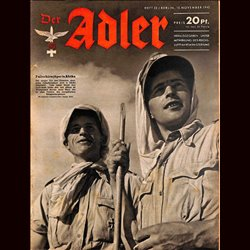 0570 DER ADLER -No.23-1942 vintage German Luftwaffe Magazine Air Force WW2 WWII