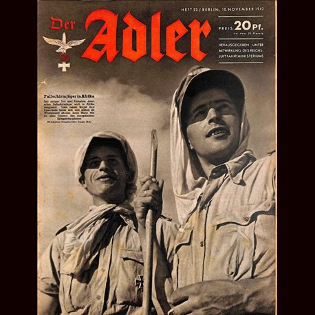 0570	 DER ADLER	 -No.	23	-1942	 vintage German Luftwaffe Magazine Air Force WW2 WWII