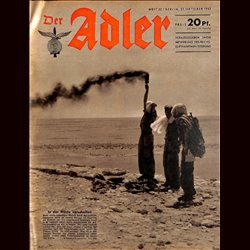 0571	 DER ADLER	 -No.	22	-1942	 vintage German Luftwaffe Magazine Air Force WW2 WWII