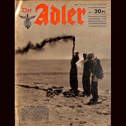 0571 DER ADLER -No.22-1942 vintage German Luftwaffe Magazine Air Force WW2 WWII