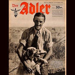 0572	 DER ADLER	 -No.	21	-1942	 vintage German Luftwaffe Magazine Air Force WW2 WWII