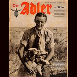 0573	 DER ADLER	 -No.	21	-1942	 vintage German Luftwaffe Magazine Air Force WW2 WWII