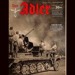 0574 DER ADLER -No.20-1942 vintage German Luftwaffe Magazine Air Force WW2 WWII