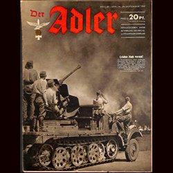 0575 DER ADLER -No.20-1942 vintage German Luftwaffe Magazine Air Force WW2 WWII