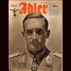 0577	 DER ADLER	 -No.	19	-1942	 vintage German Luftwaffe Magazine Air Force WW2 WWII