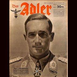 0577 DER ADLER -No.19-1942 vintage German Luftwaffe Magazine Air Force WW2 WWII
