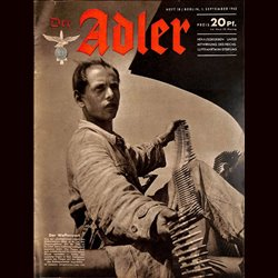 0578	 DER ADLER	 -No.	18	-1942	 vintage German Luftwaffe Magazine Air Force WW2 WWII