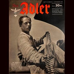 0579	 DER ADLER	 -No.	18	-1942	 vintage German Luftwaffe Magazine Air Force WW2 WWII