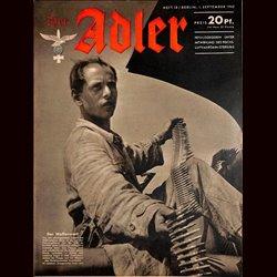 0579 DER ADLER -No.18-1942 vintage German Luftwaffe Magazine Air Force WW2 WWII