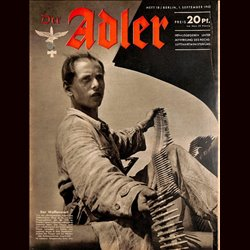 0580	 DER ADLER	 -No.	18	-1942	 vintage German Luftwaffe Magazine Air Force WW2 WWII