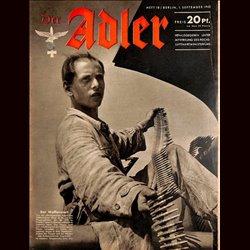 0580 DER ADLER -No.18-1942 vintage German Luftwaffe Magazine Air Force WW2 WWII