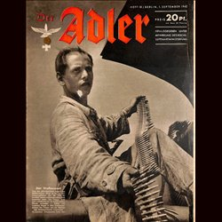 0581	 DER ADLER	 -No.	18	-1942	 vintage German Luftwaffe Magazine Air Force WW2 WWII