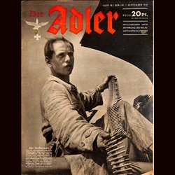 0582	 DER ADLER	 -No.	18	-1942	 vintage German Luftwaffe Magazine Air Force WW2 WWII