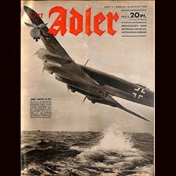 0584	 DER ADLER	 -No.	17	-1942	 vintage German Luftwaffe Magazine Air Force WW2 WWII