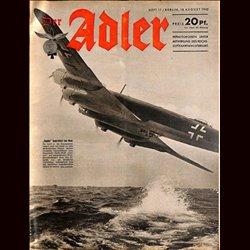 0584 DER ADLER -No.17-1942 vintage German Luftwaffe Magazine Air Force WW2 WWII