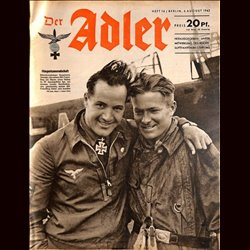0585	 DER ADLER	 -No.	16	-1942	 vintage German Luftwaffe Magazine Air Force WW2 WWII