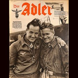 0586	 DER ADLER	 -No.	16	-1942	 vintage German Luftwaffe Magazine Air Force WW2 WWII