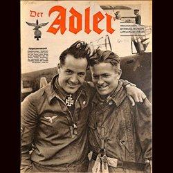 0586 DER ADLER -No.16-1942 vintage German Luftwaffe Magazine Air Force WW2 WWII