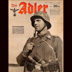 0589 DER ADLER -No.15-1942 vintage German Luftwaffe Magazine Air Force WW2 WWII