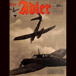 0595	 DER ADLER	 -No.	11	-1942	 vintage German Luftwaffe Magazine Air Force WW2 WWII