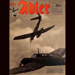 0595 DER ADLER -No.11-1942 vintage German Luftwaffe Magazine Air Force WW2 WWII