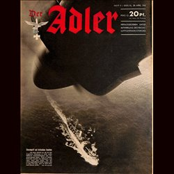 0596	 DER ADLER	 -No.	9	-1942	 vintage German Luftwaffe Magazine Air Force WW2 WWII