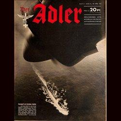 0596 DER ADLER -No.9-1942 vintage German Luftwaffe Magazine Air Force WW2 WWII