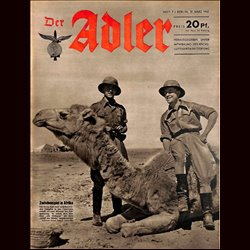 0598	 DER ADLER	 -No.	7	-1942	 vintage German Luftwaffe Magazine Air Force WW2 WWII