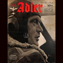 0599	 DER ADLER	 -No.	6	-1942	 vintage German Luftwaffe Magazine Air Force WW2 WWII