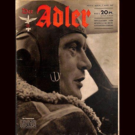 0600 DER ADLER -No.6-1942 vintage German Luftwaffe Magazine Air Force WW2 WWII