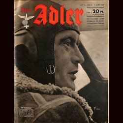 0601	 DER ADLER	 -No.	6	-1942	 vintage German Luftwaffe Magazine Air Force WW2 WWII