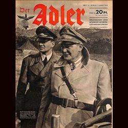 0603 DER ADLER -No.5-1942 vintage German Luftwaffe Magazine Air Force WW2 WWII