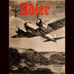 0608	 DER ADLER	 -No.	4	-1942	 vintage German Luftwaffe Magazine Air Force WW2 WWII