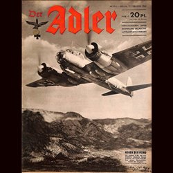 0609	 DER ADLER	 -No.	4	-1942	 vintage German Luftwaffe Magazine Air Force WW2 WWII