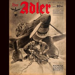 0610	 DER ADLER	 -No.	3	-1942	 vintage German Luftwaffe Magazine Air Force WW2 WWII