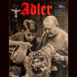 0611	 DER ADLER	 -No.	2	-1942	 vintage German Luftwaffe Magazine Air Force WW2 WWII