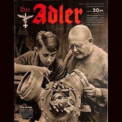 0611 DER ADLER -No.2-1942 vintage German Luftwaffe Magazine Air Force WW2 WWII